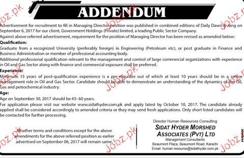 Managing Director Job Opportunity