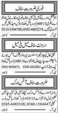 Computer & Management Staff Jobs in Multan