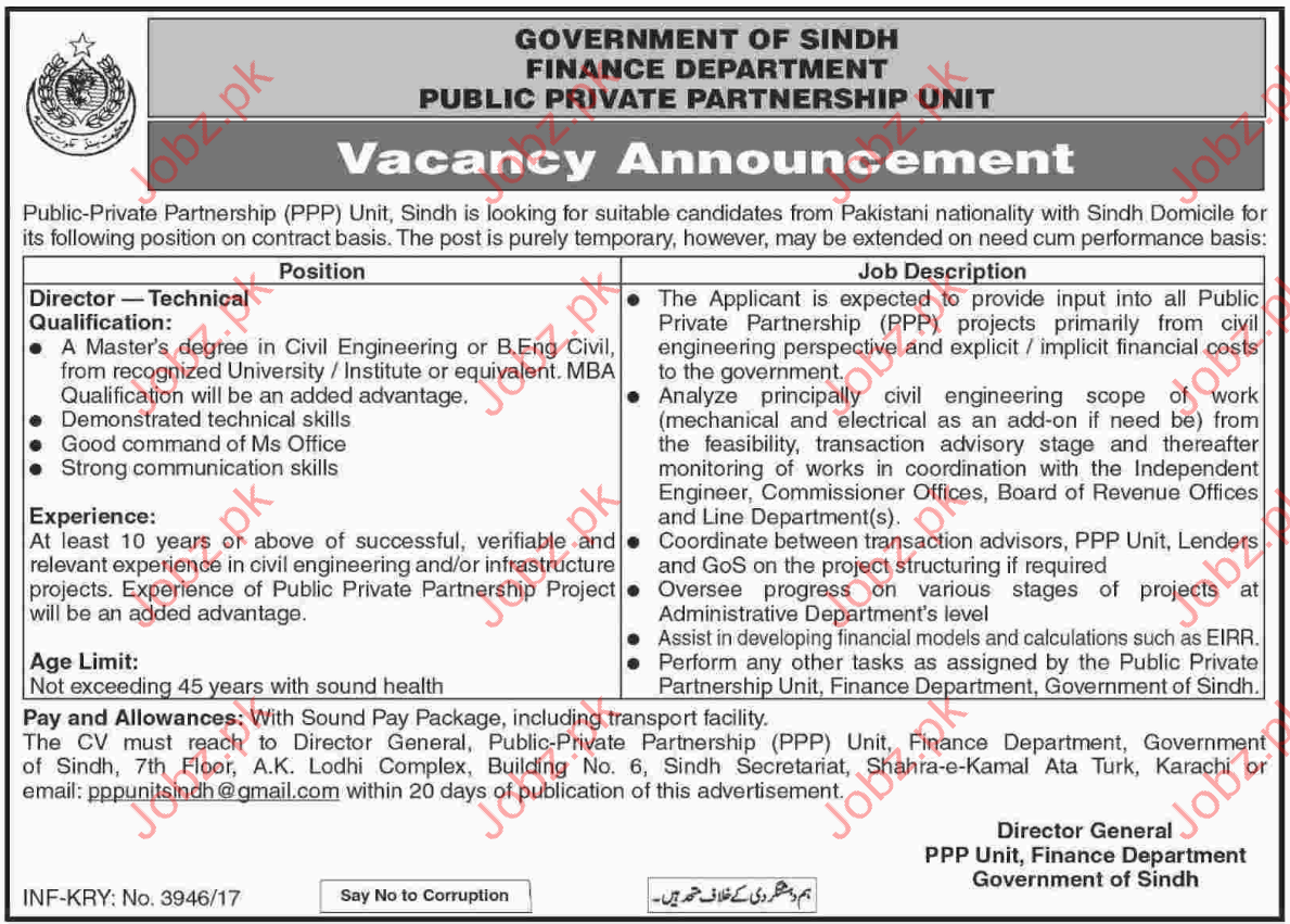 Engineering Jobs in Government of Sindh