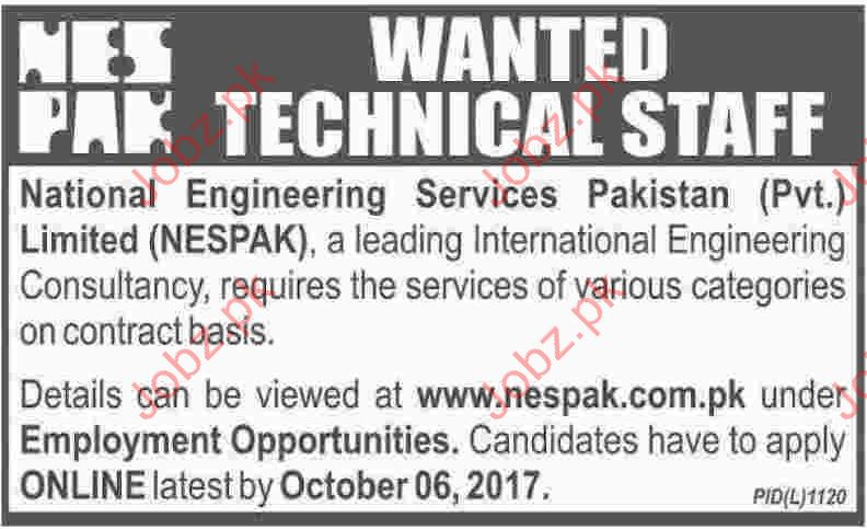 NESPAK Technical Jobs 2017