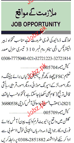 Peon, Office Boys and Technical Staff Job Opportunity 2019 Job