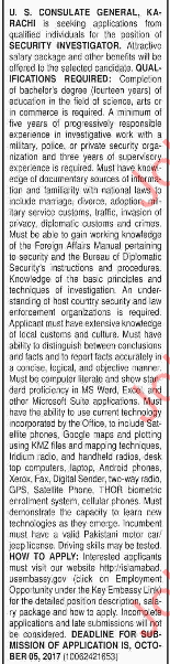 Security Investigator Jobs For Karachi