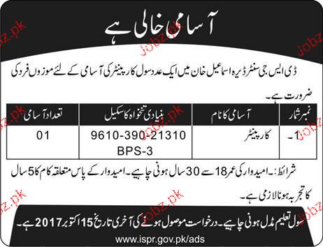 DSG Center Dear Ismile Khan Jobs