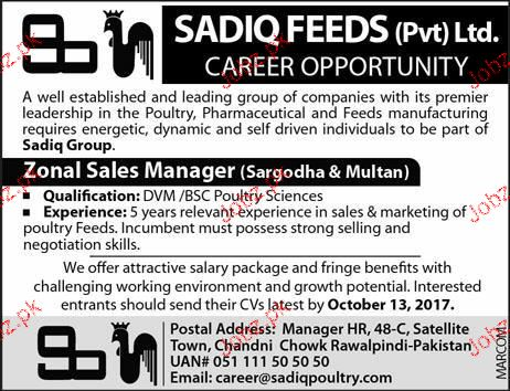 Zonal Sales Manager Job Opportunity