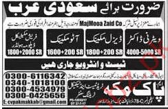 Veterinary Doctor & Auto Mechanic Jobs Saudi Arabia