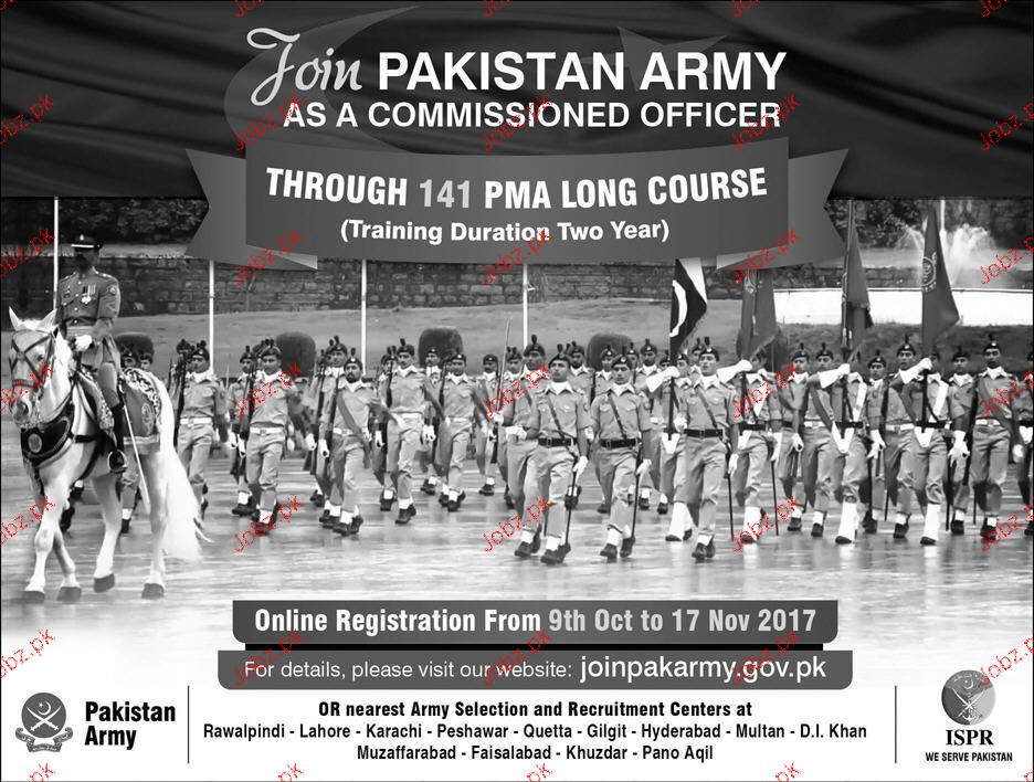 Join Pakistan Army As Commissioned Officer Through 141 PMA