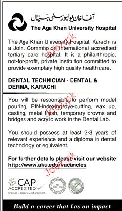 The Aga Khan University Hospital Jobs 2019 Job Advertisement
