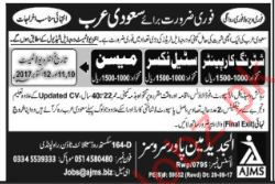 Jobs Opportunity Saudi Arabia 2017
