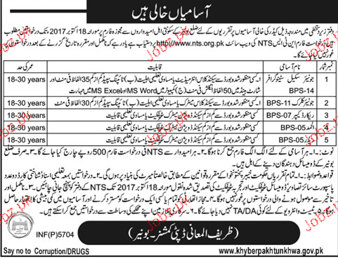 Deputy Commissioner Office NTS Jobs