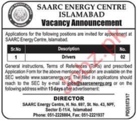Drivers Required For Islamabad, Pakistan