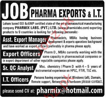 Export Manager & Export Officers Jobs