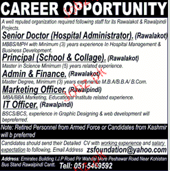 Senior Doctors Hospital Administrators Job Opportunity