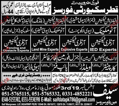 Auto Mechanics Ac Technicians Job Opportunity 2020 Job Advertisement Pakistan
