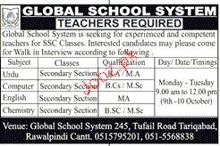 Global School System Jobs
