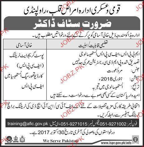 National Askari Institute of Health Disease Job
