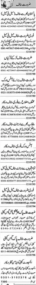 Experienced Staff Required In Lahore