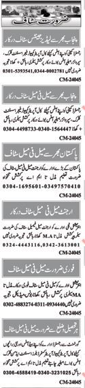 Miscellaneous Staff Jobs 2017 In Islamabad, Pakistan
