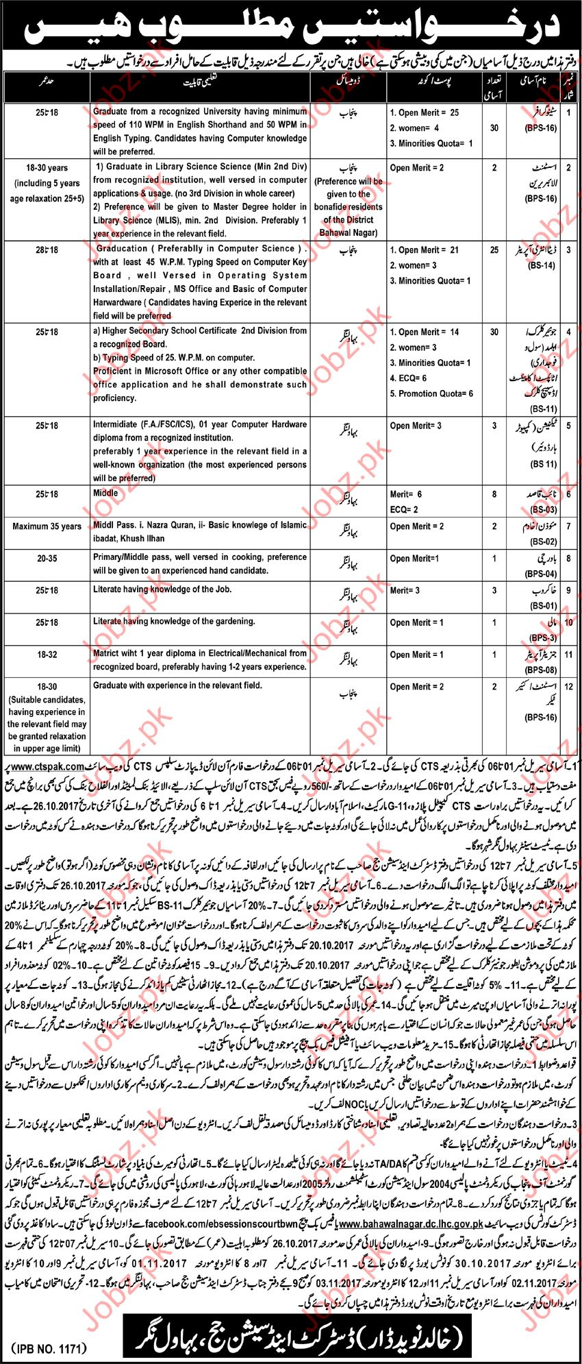 Stenographer, Assistant Librarian, DEO, Clerk, Cook Jobs