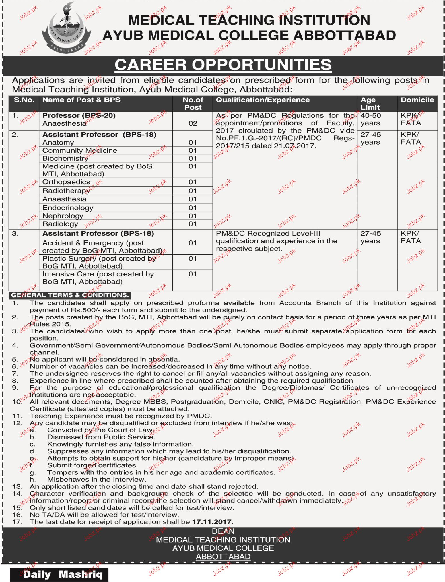 Medical Teaching Institution MTI Jobs
