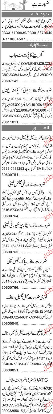 Lady Health Visitors, Data Entry Operators Job Opportunity
