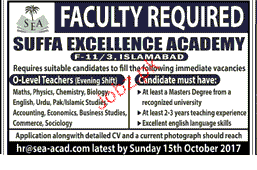 Suffa Excellecne Academy Jobs