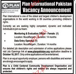 Plan International Pakistan Job
