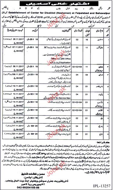 social welfare department jobs 2020 job advertisement pakistan