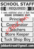 Principal, Coordinators, Teachers Job Opportunity