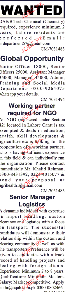 Data Entry Operators, Working Partners Job Opportunity