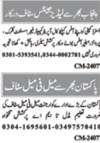 Staff Required in Pakistan Institute