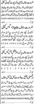 Security Staff wanted Lahore
