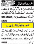 Actor & Model wanted Lahore