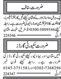Accountant, Salesman, Driver & Security Guards Jobs