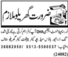 House mate Job Required in Private Agency Lahore