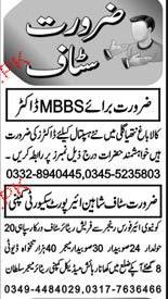 MBBS Doctors, Security Staff Job Opportunity