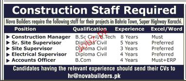 Construction Manager, Senior Site Supervisor Job Opportunity