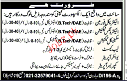 Electrical Foreman, Electronics Technicians Wanted