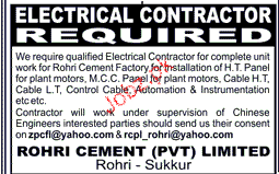 Electrical COntractactors Job Opportunity