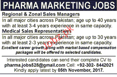 Regional & Zonal Sales Managers Job Opportunity