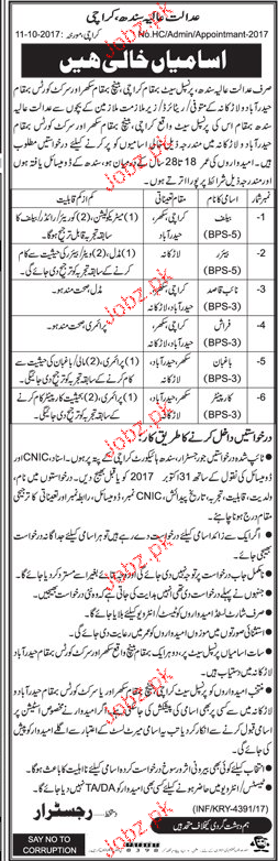 District Court Karachi Jobs