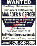 Customer Relationship Manager & Officers  Wanted