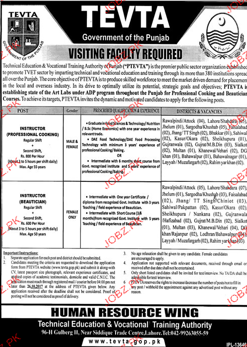 Technical Education & Vocational Training Authority TEVTAJob