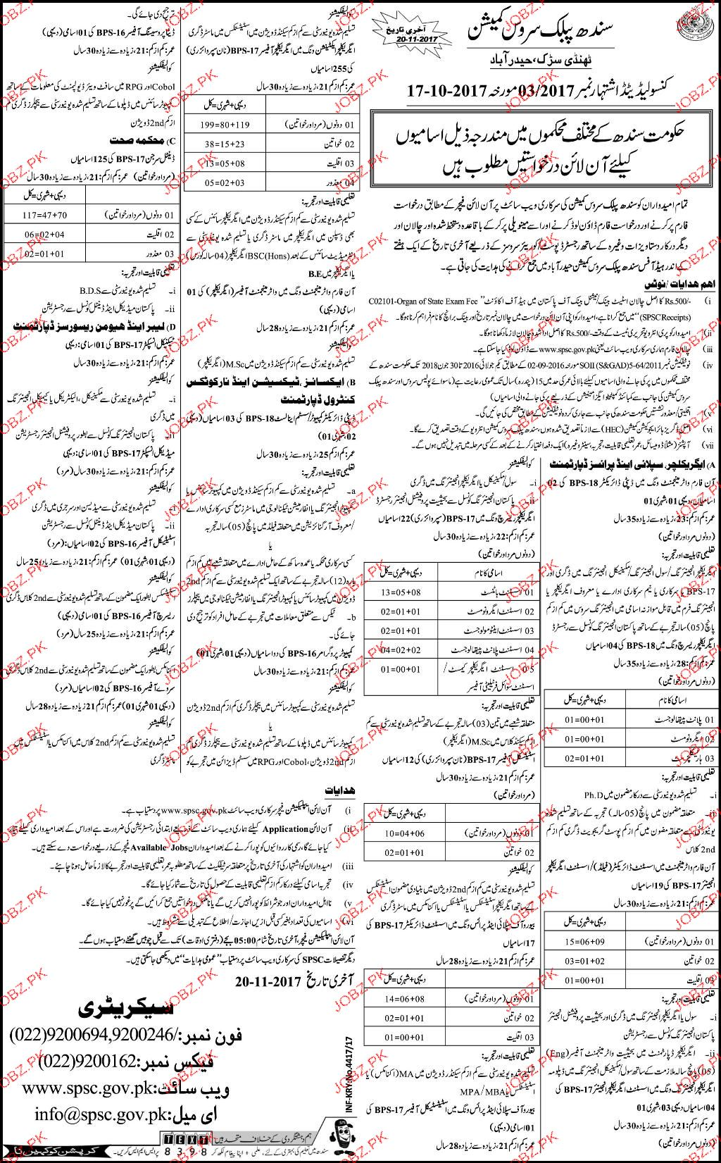 Sindh Public Commission SPC Jobs