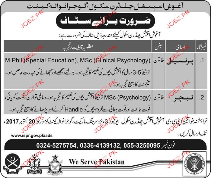 Aghosh special Children School Jobs