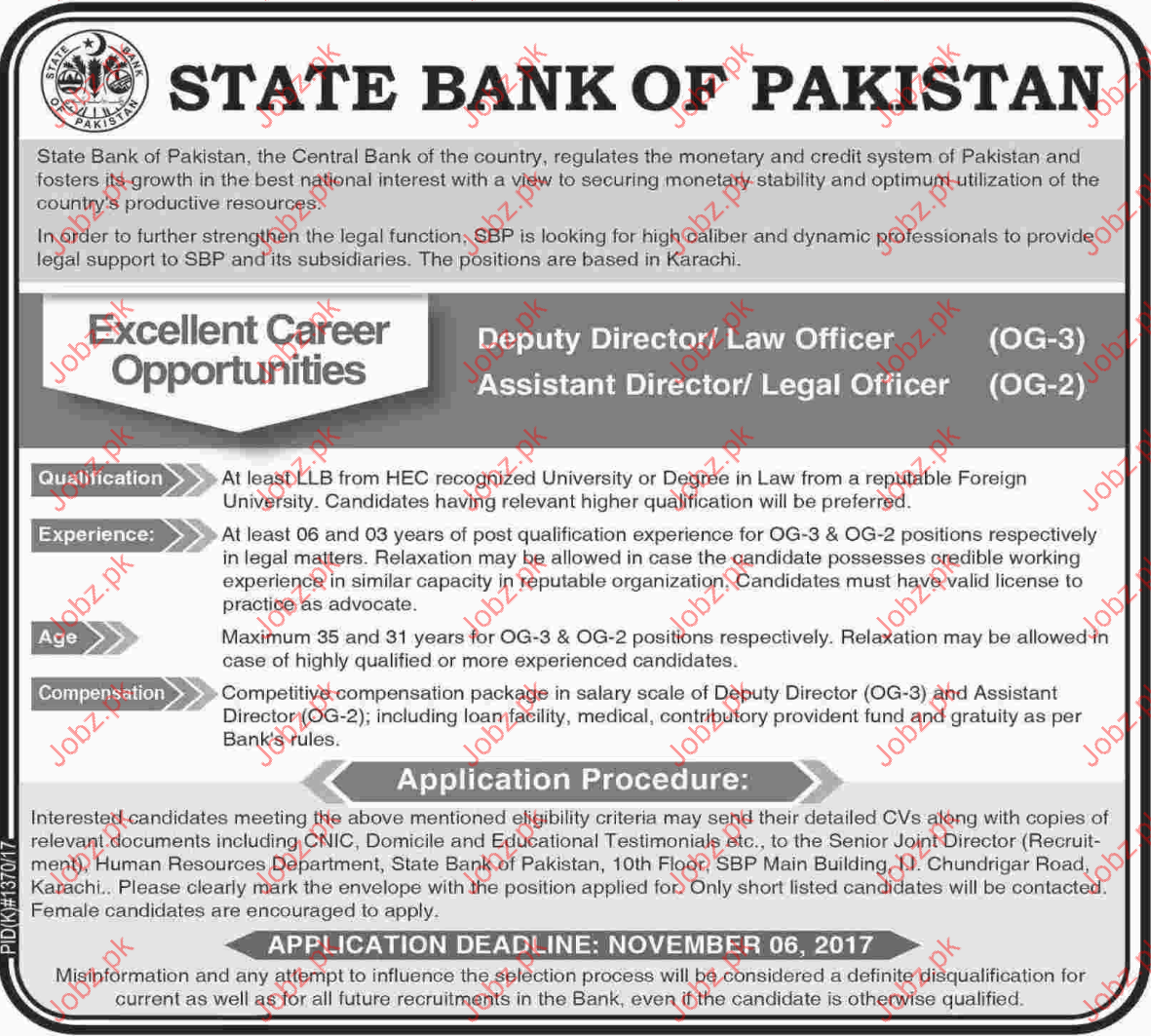 State Bank of Punjab Jobs Opportunity