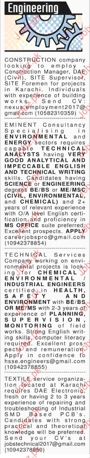 Engineeing Jobs Opportunity