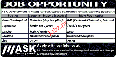 Customer Support Executives Job Opportunity