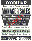 Manager Sales Job Opportunity
