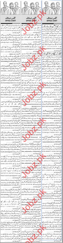 Office Staff Jobs Opportunity Karachi