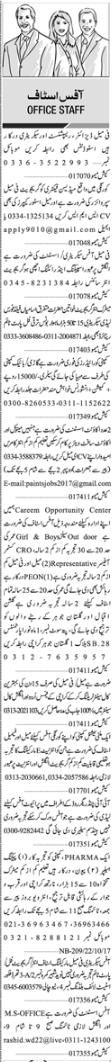 Accountant, Secretary & Office Staff Jobs